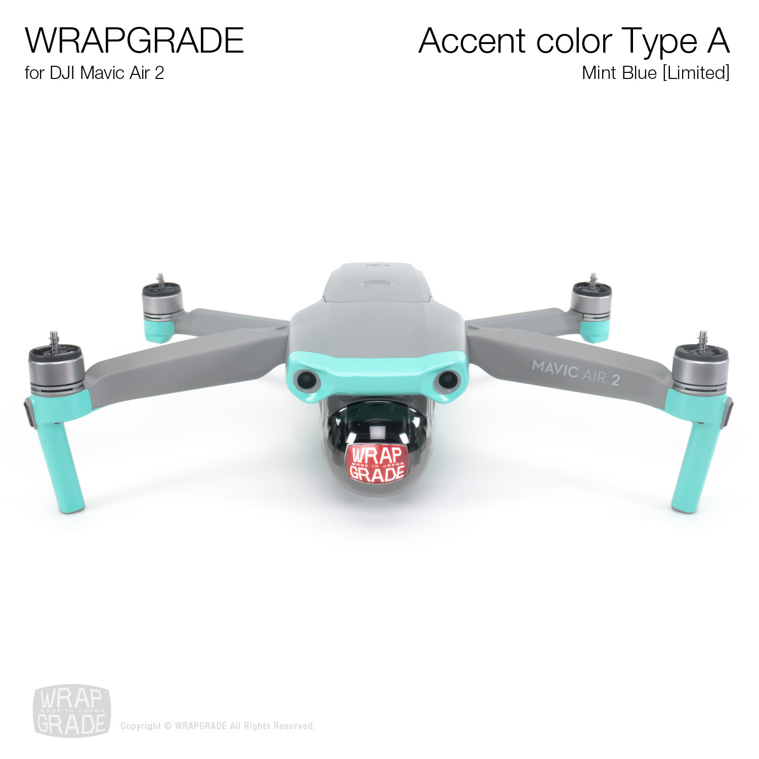 Wrapgrade for DJI Mavic Air 2   Accent Color A (MINT BLUE)