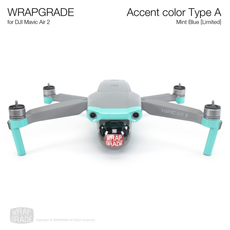 Wrapgrade for DJI Mavic Air 2 | Accent Color A (MINT BLUE)