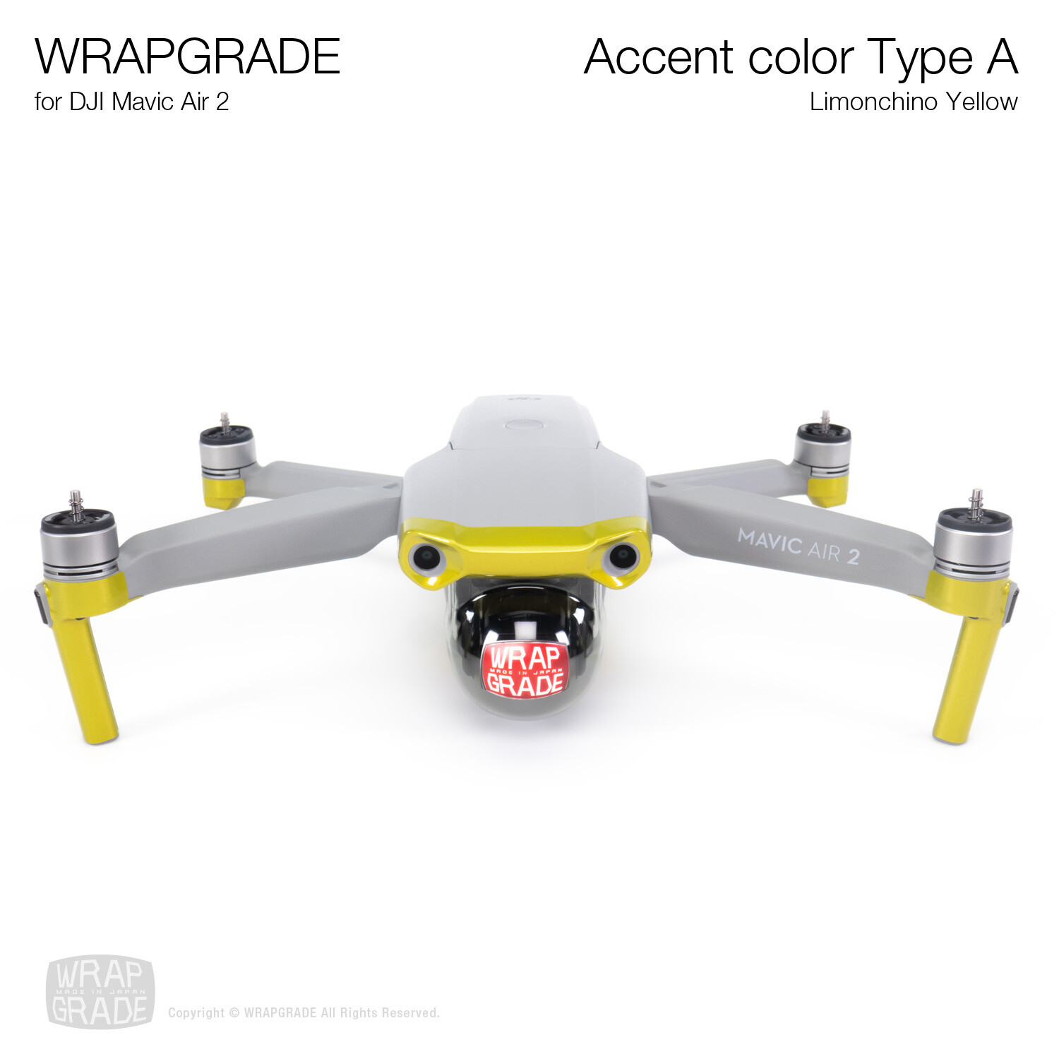 Wrapgrade for DJI Mavic Air 2 | Accent Color A (LIMIONCINO YELLOW)