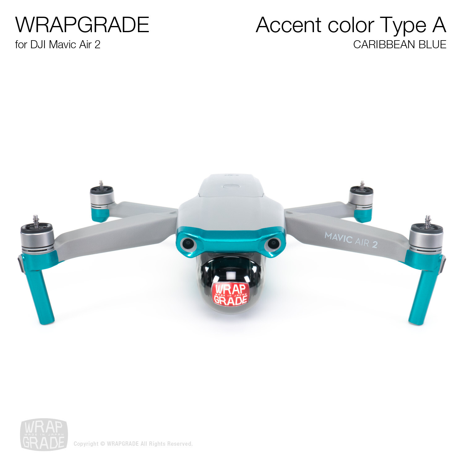 Wrapgrade for DJI Mavic Air 2 | Accent Color A (CARIBBEAN BLUE)