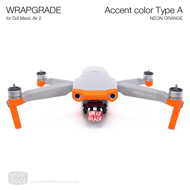 Wrapgrade for DJI Mavic Air 2 | Accent Color A (NEON ORANGE)