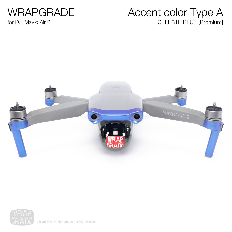 Wrapgrade for DJI Mavic Air 2 | Accent Color A (CELESTE BLUE)