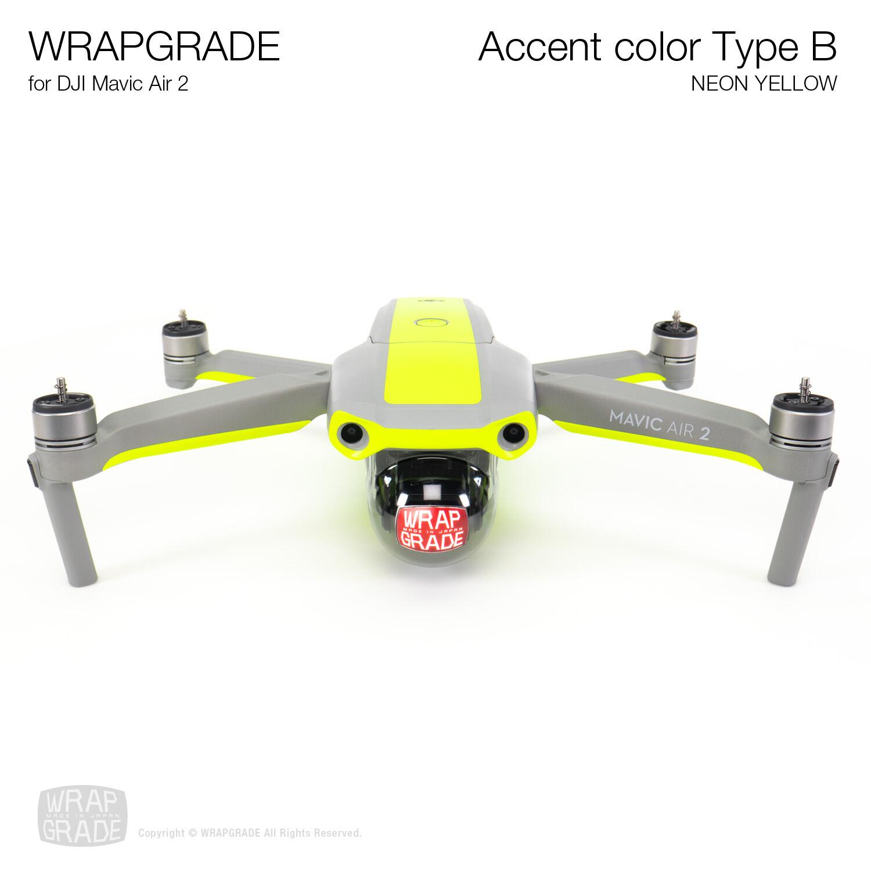 Wrapgrade for DJI Mavic Air 2 | Accent Color B (NEON YELLOW)