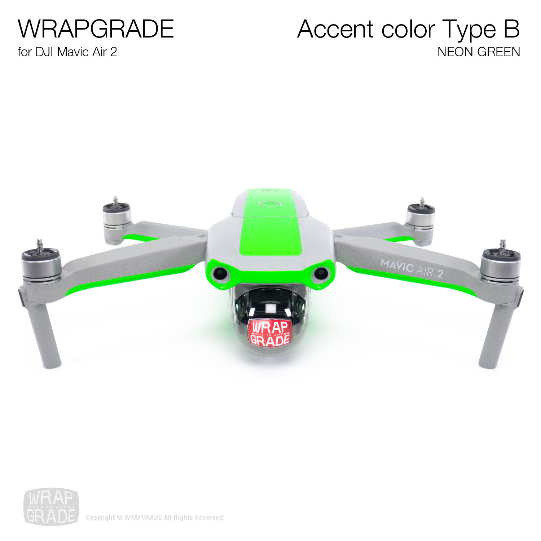 Wrapgrade for DJI Mavic Air 2 | Accent Color B (NEON GREEN)