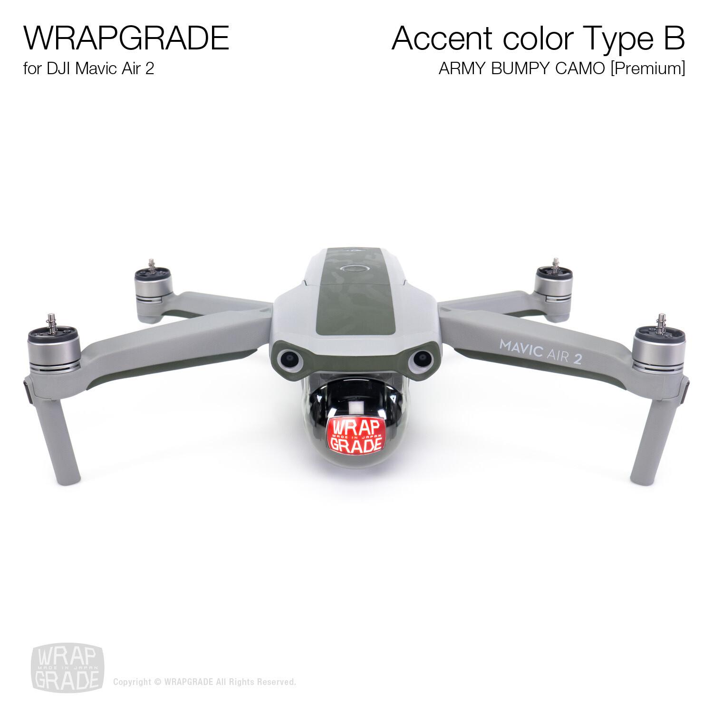 Wrapgrade for DJI Mavic Air 2 | Accent Color B (ARMY BUMPY CAMO)