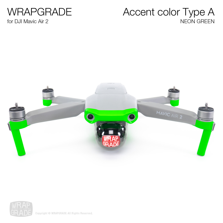 Wrapgrade for DJI Mavic Air 2 | Accent Color A (NEON GREEN)