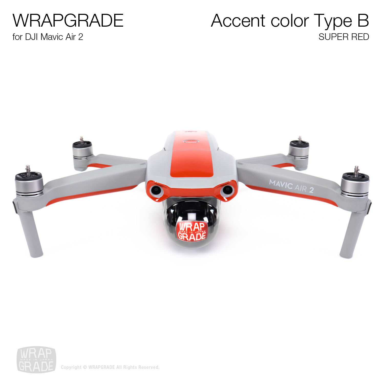 Wrapgrade for DJI Mavic Air 2 | Accent Color B (SUPER RED)