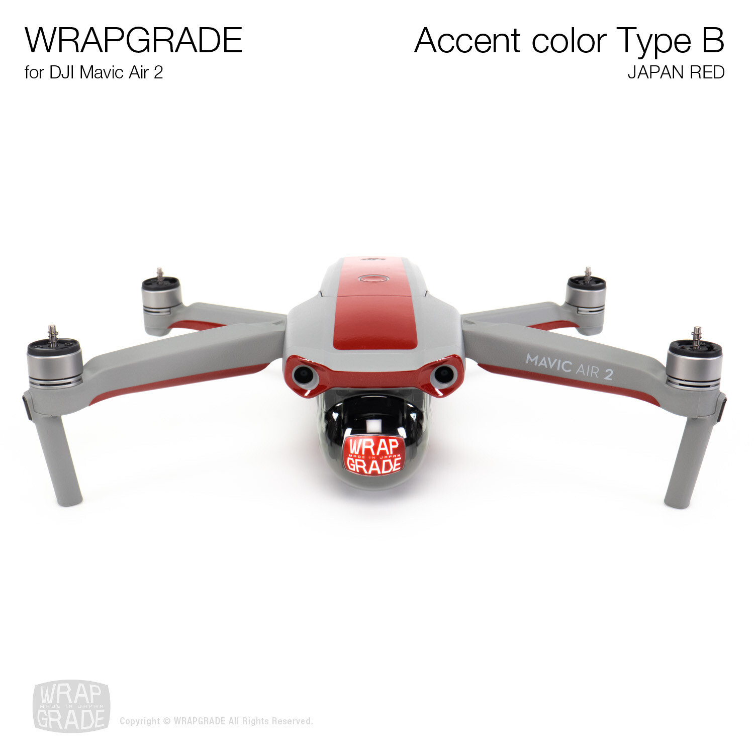 Wrapgrade for DJI Mavic Air 2 | Accent Color B (JAPAN RED)