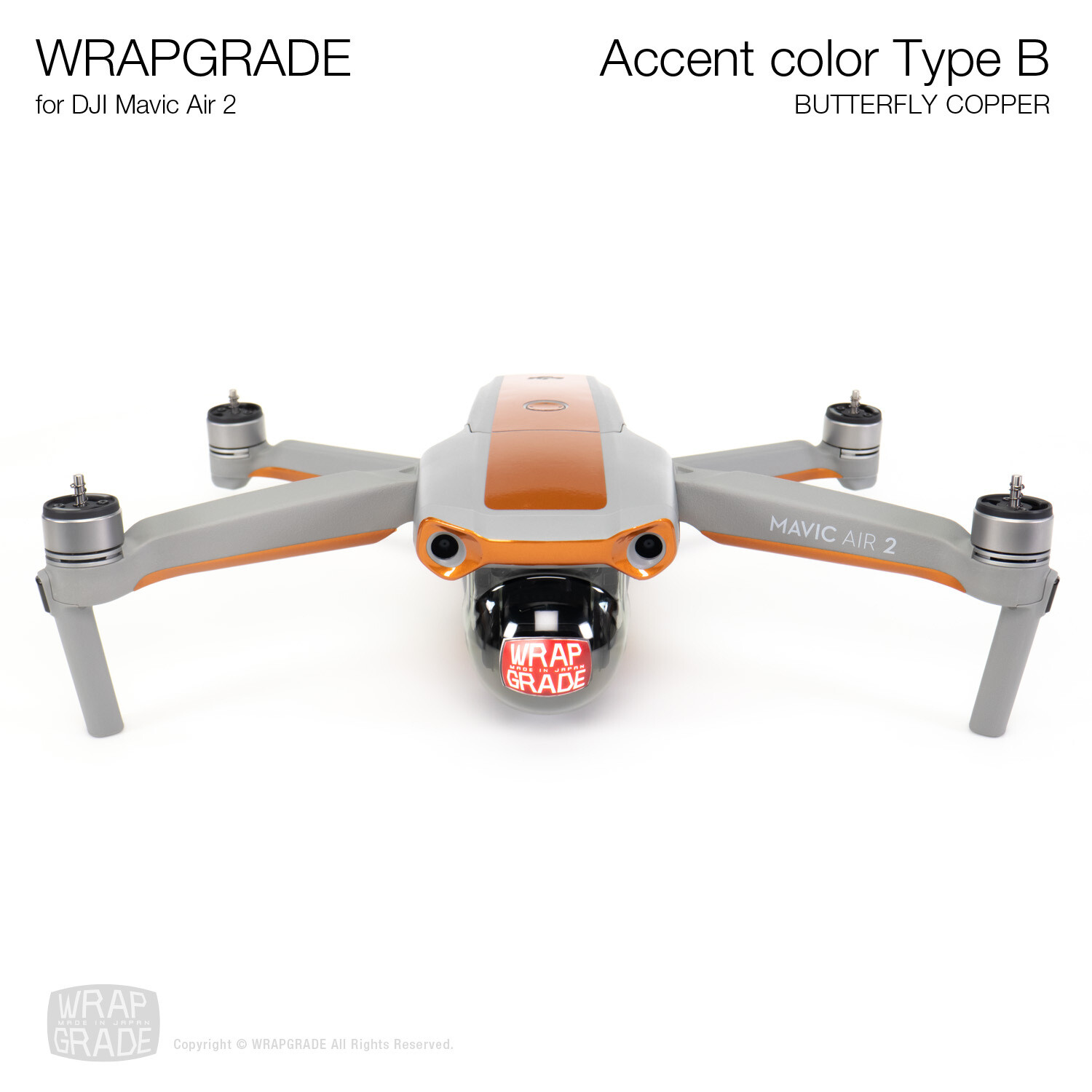 Wrapgrade for DJI Mavic Air 2 | Accent Color B (BUTTERFLY COPPER)