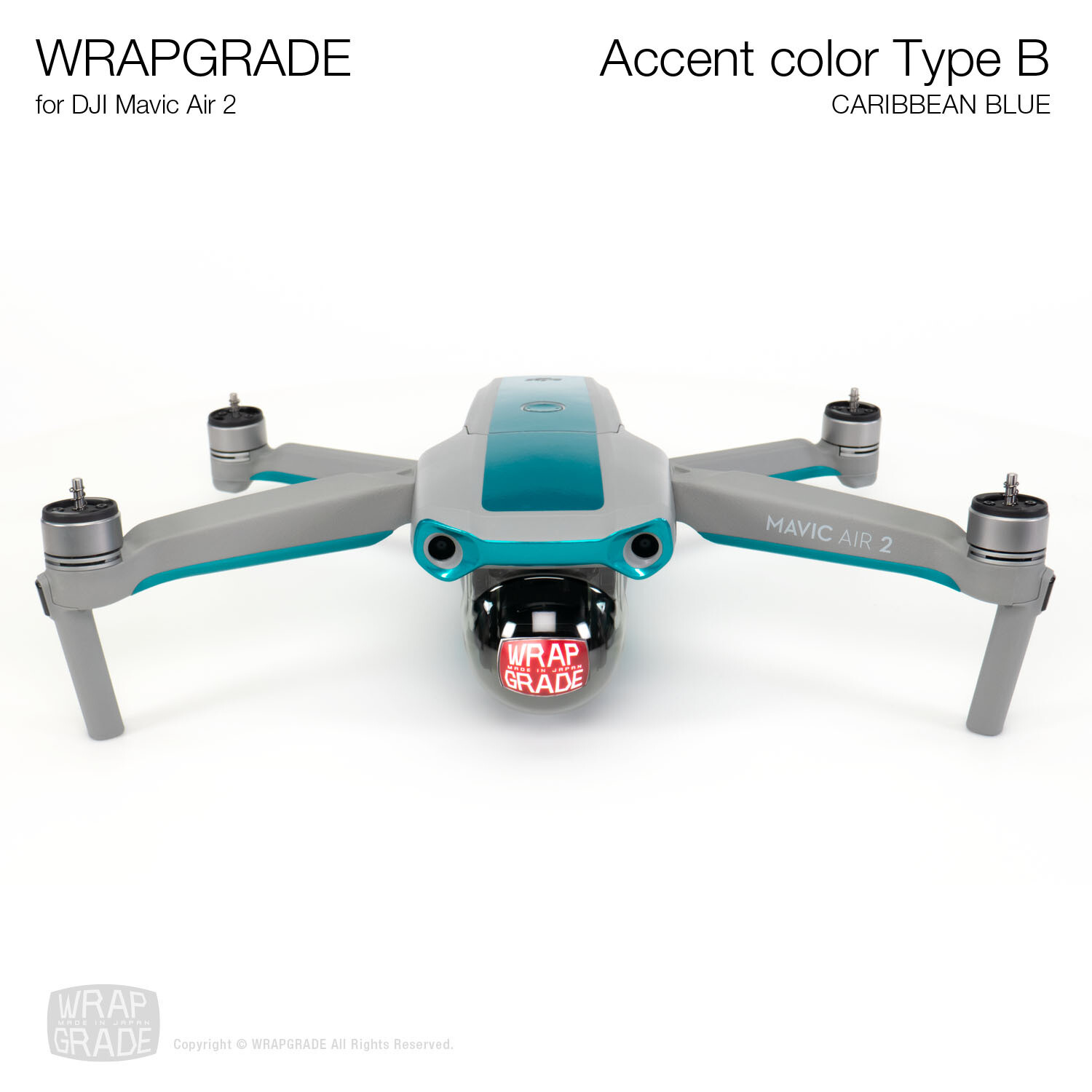 Wrapgrade for DJI Mavic Air 2 | Accent Color B (CARIBBEAN BLUE)