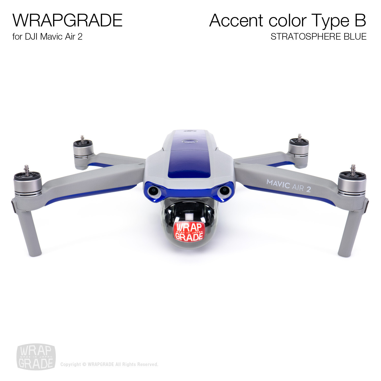 Wrapgrade for DJI Mavic Air 2 | Accent Color B (STRATOSPHERE BLUE)