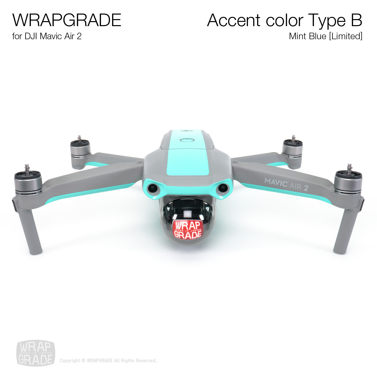 Wrapgrade for DJI Mavic Air 2 | Accent Color B (MINT BLUE)