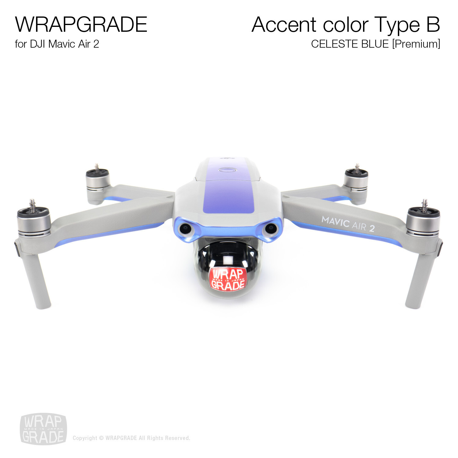 Wrapgrade for DJI Mavic Air 2 | Accent Color B (CELESTE BLUE)