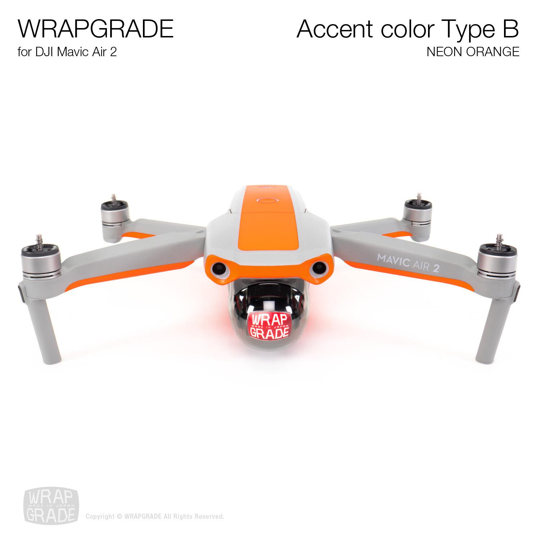 Wrapgrade for DJI Mavic Air 2   Accent Color B (NEON ORANGE)