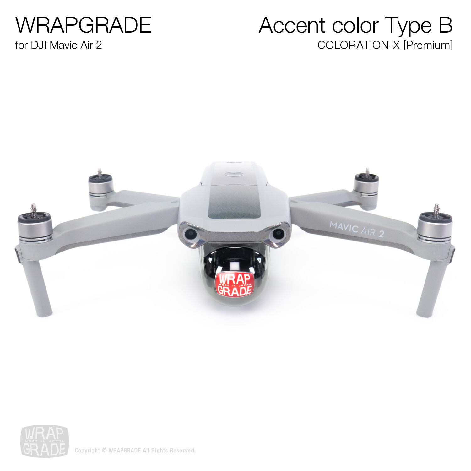 Wrapgrade for DJI Mavic Air 2 | Accent Color B (COLORATION-X)