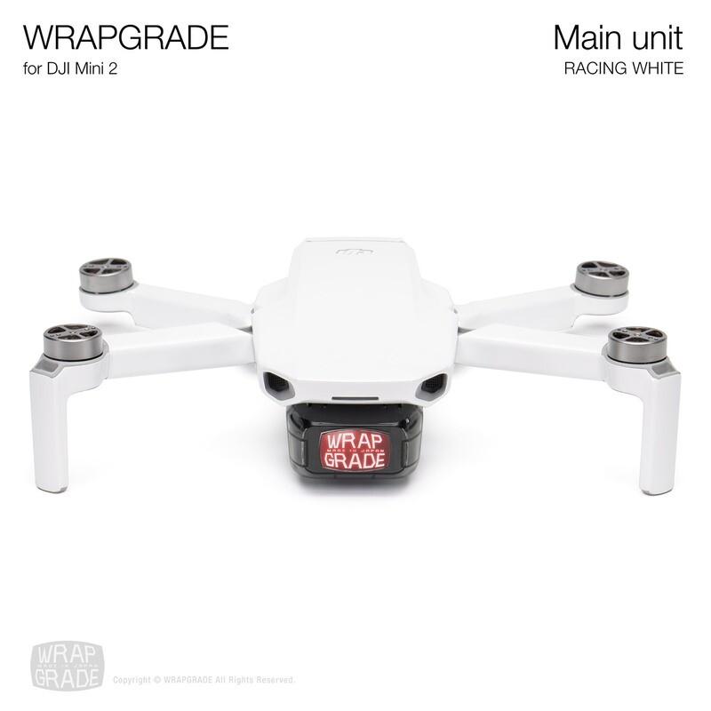 Wrapgrade Poly Skin for DJI Mini 2 | Main Unit (RACING WHITE)