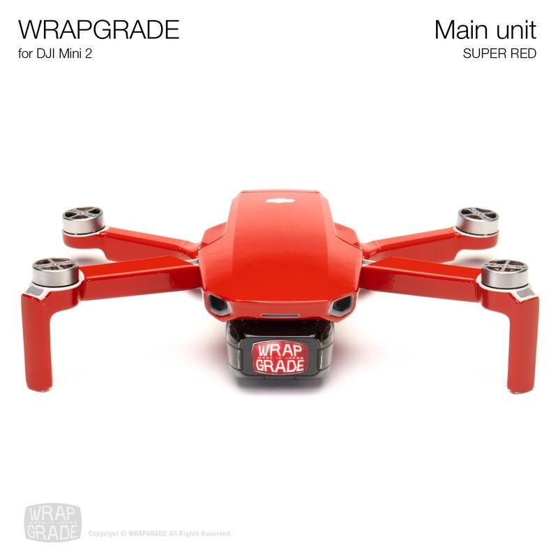 Wrapgrade Poly Skin for DJI Mini 2 | Main Unit (SUPER RED)