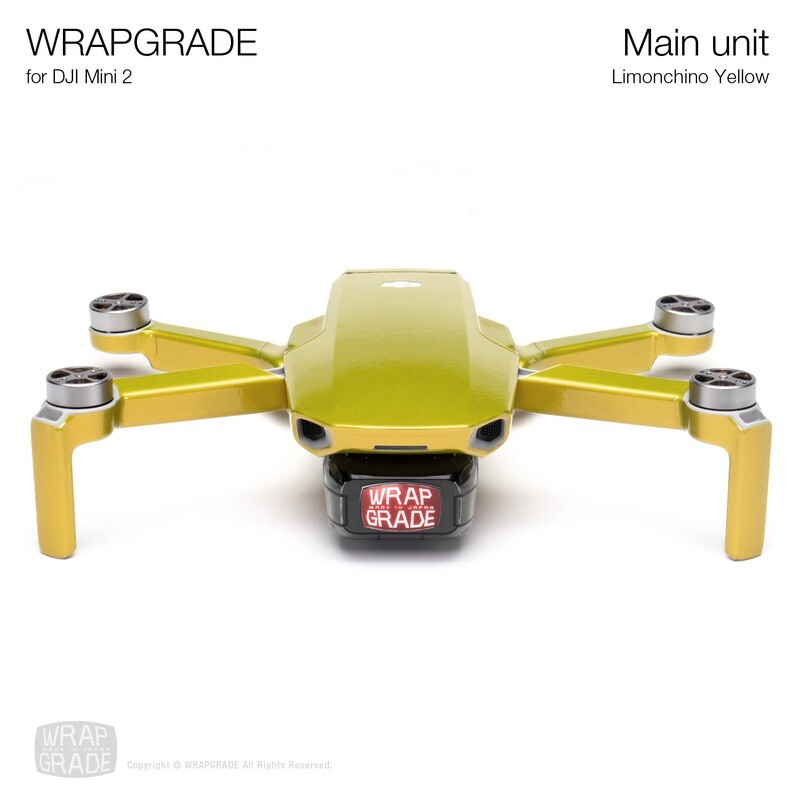 Wrapgrade Poly Skin for DJI Mini 2 | Main Unit (LIMONCINO YELLOW)