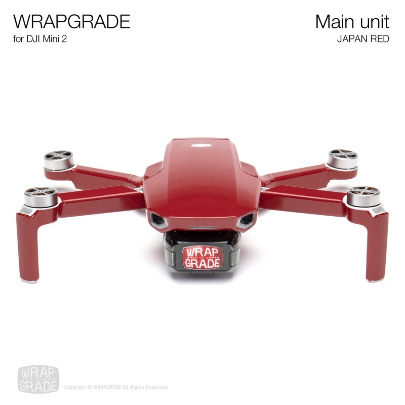 Wrapgrade Poly Skin for DJI Mini 2 | Main Unit (JAPAN RED)