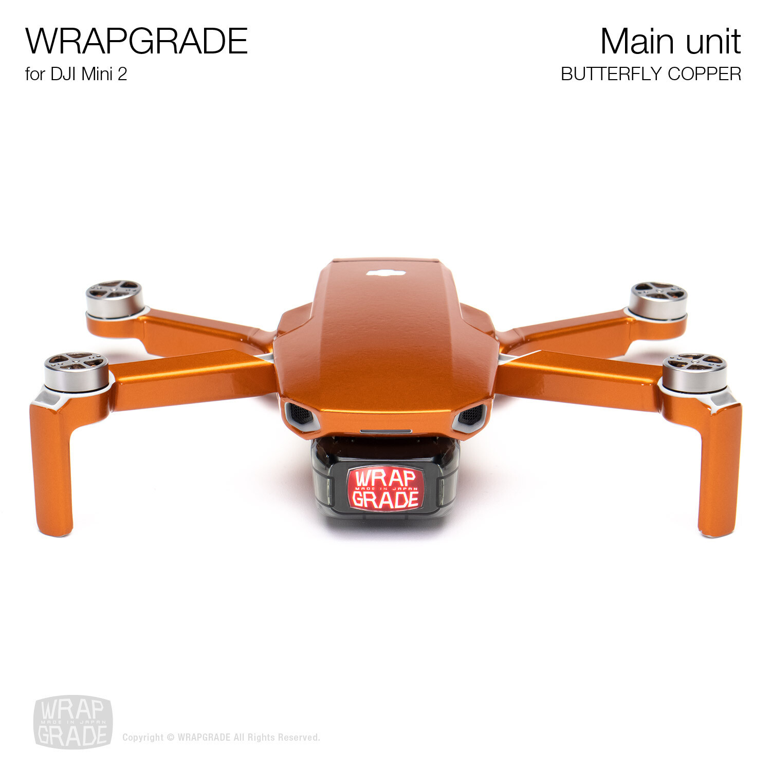 Wrapgrade Poly Skin for DJI Mini 2 | Main Unit (BUTTERFLY COPPER)