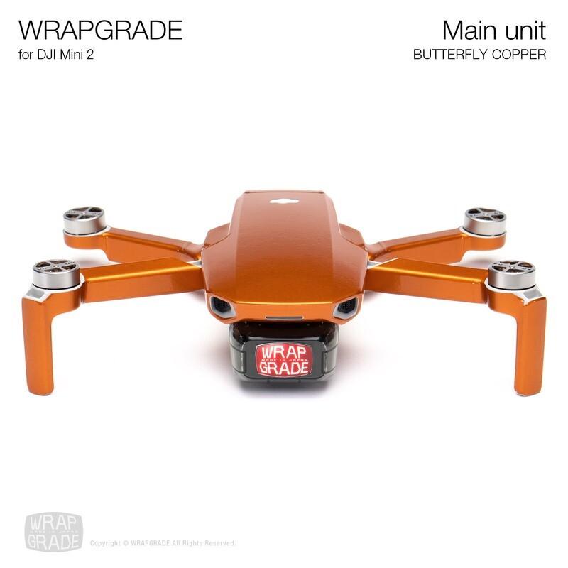 Wrapgrade Poly Skin for DJI Mini 2 | Main Unit (BUTTERFLY COPPER)