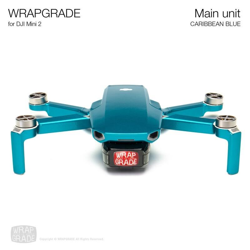 Wrapgrade Poly Skin for DJI Mini 2 | Main Unit (CARIBBEAN BLUE)