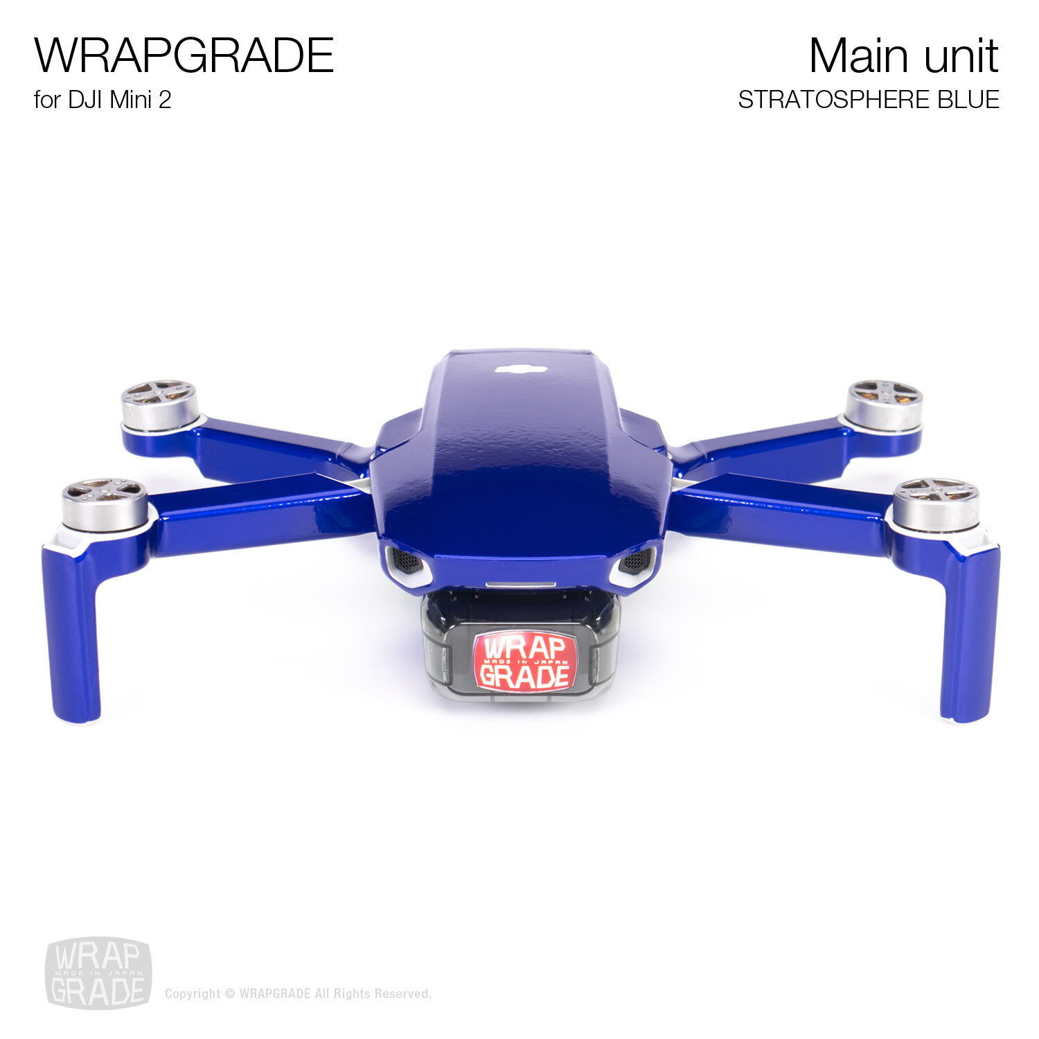 Wrapgrade Poly Skin for DJI Mini 2 | Main Unit (STRATOSPHERE BLUE)