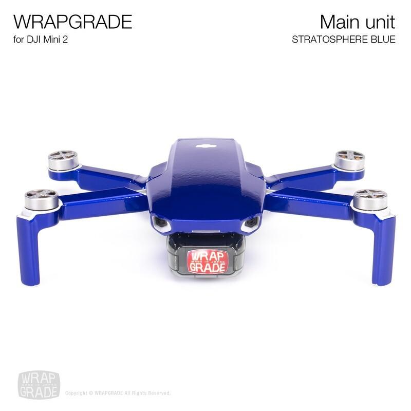 Wrapgrade Poly Skin for DJI Mini 2 | Main Unit (STRATOSPHERE BLUE)