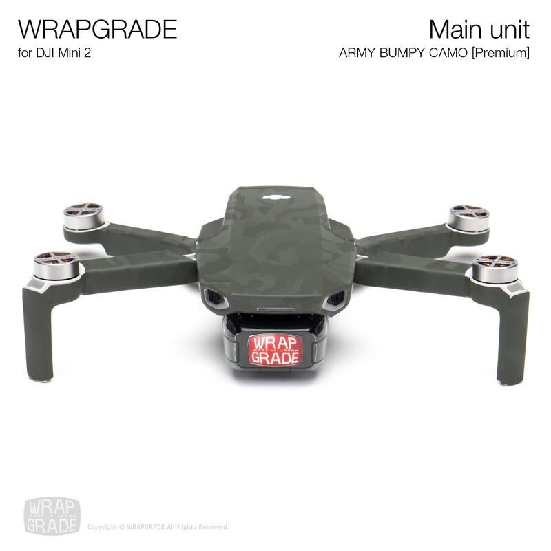 Wrapgrade Poly Skin for DJI Mini 2 | Main Unit (ARMY BUMPY CAMO)