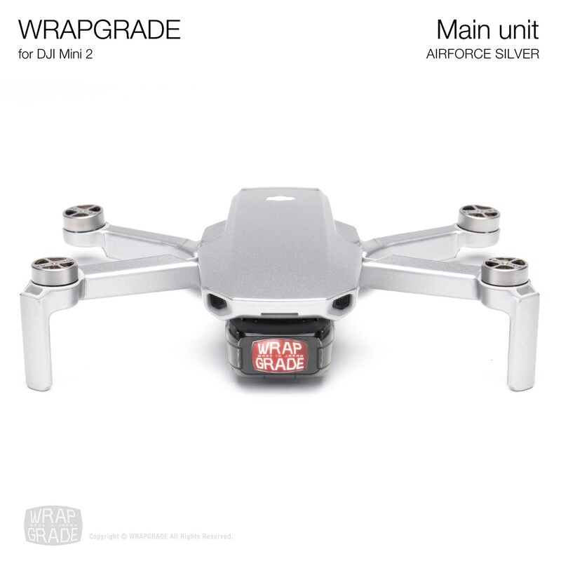 Wrapgrade Poly Skin for DJI Mini 2 | Main Unit (AIRFORCE SILVER)