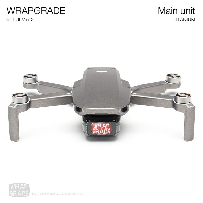 Wrapgrade Poly Skin for DJI Mini 2 | Main Unit (TITANIUM)