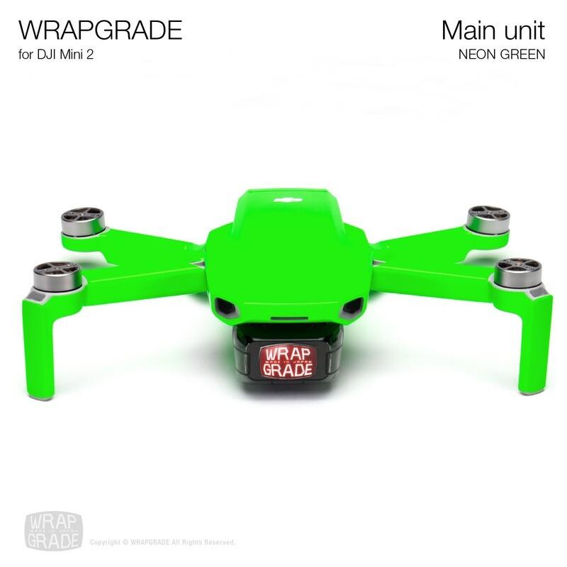 Wrapgrade Poly Skin for DJI Mini 2 | Main Unit (NEON GREEN)