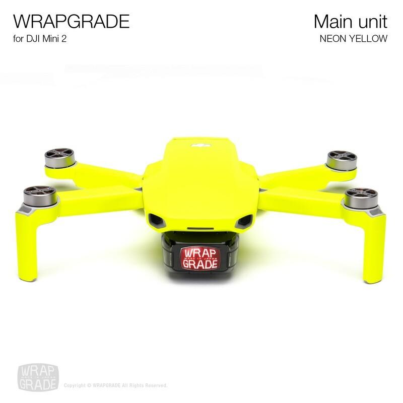 Wrapgrade Poly Skin for DJI Mini 2 | Main Unit (NEON YELLOW)