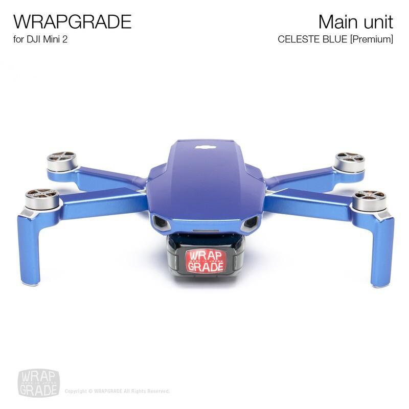 Wrapgrade Poly Skin for DJI Mini 2 | Main Unit (CELESTE BLUE)