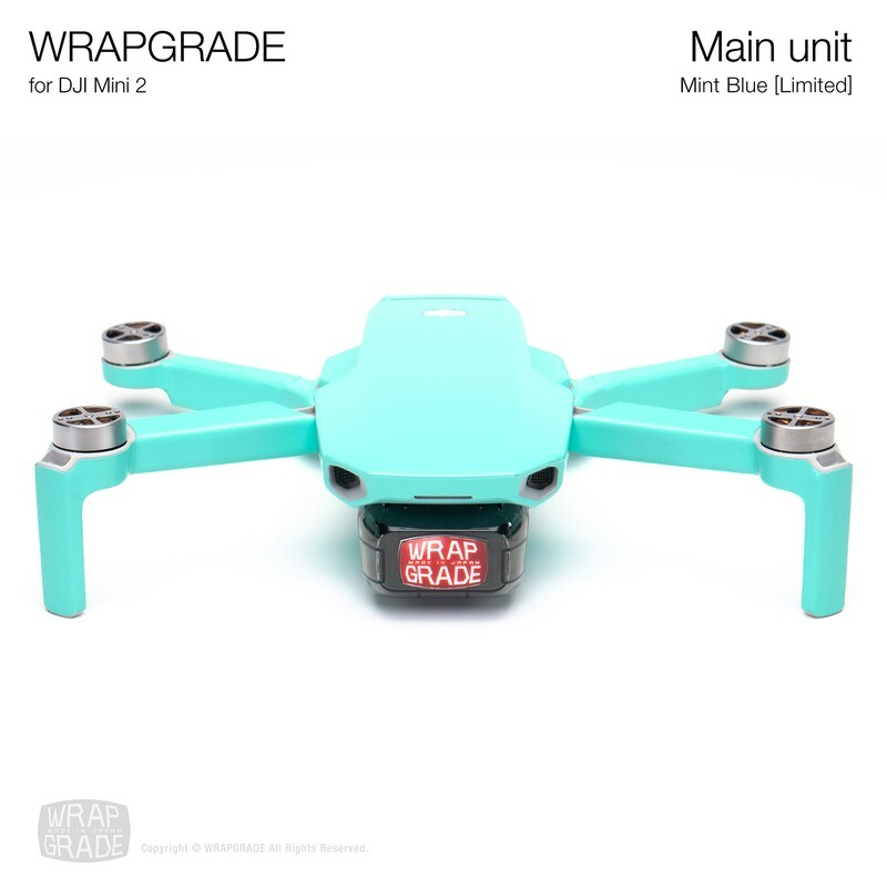 Wrapgrade Poly Skin for DJI Mini 2 | Main Unit (MINT BLUE)
