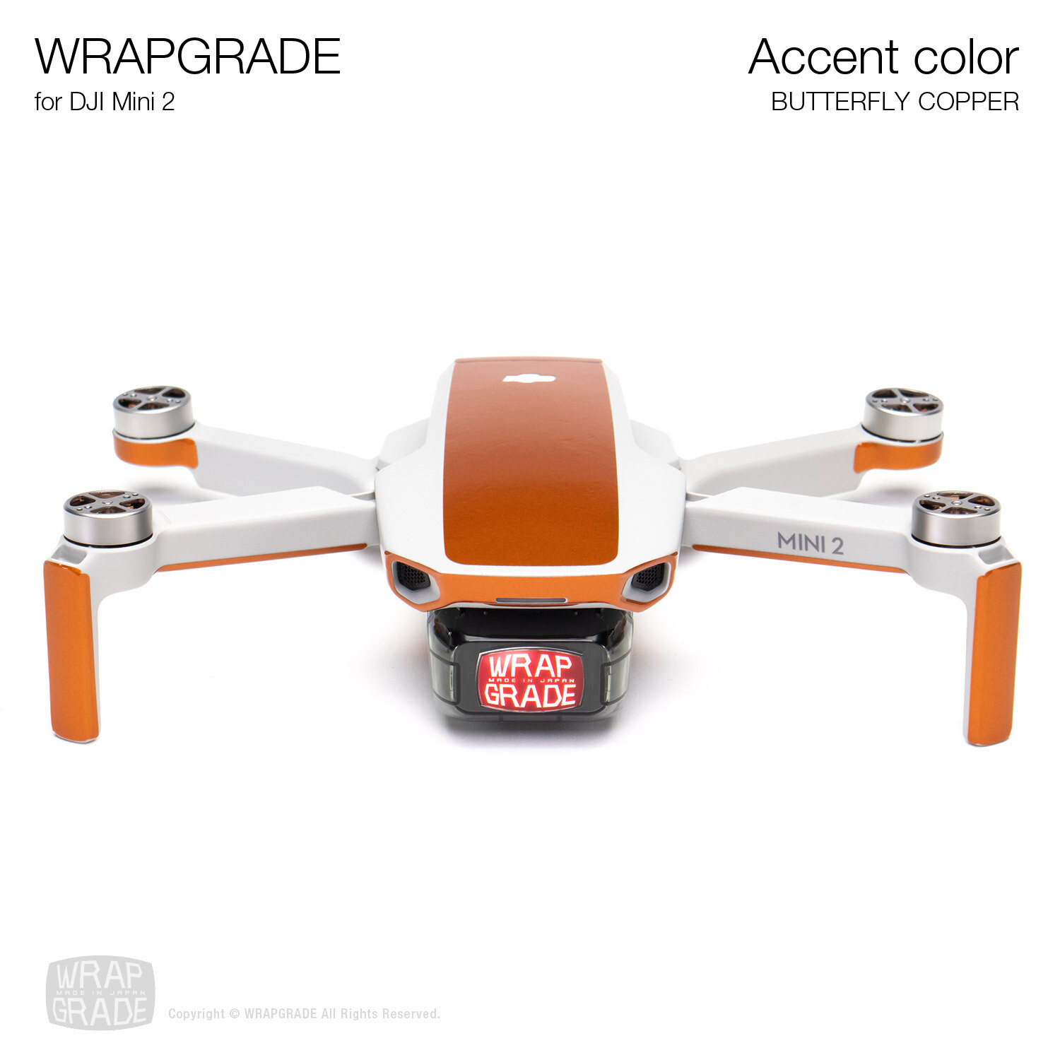 Wrapgrade Poly Skin for DJI Mini 2 | Accent color (BUTTERFLY COPPER)