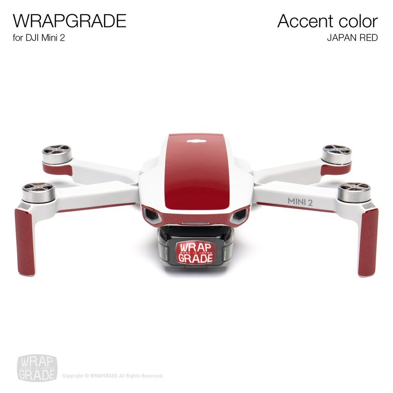 Wrapgrade Poly Skin for DJI Mini 2 | Accent color (JAPAN RED)