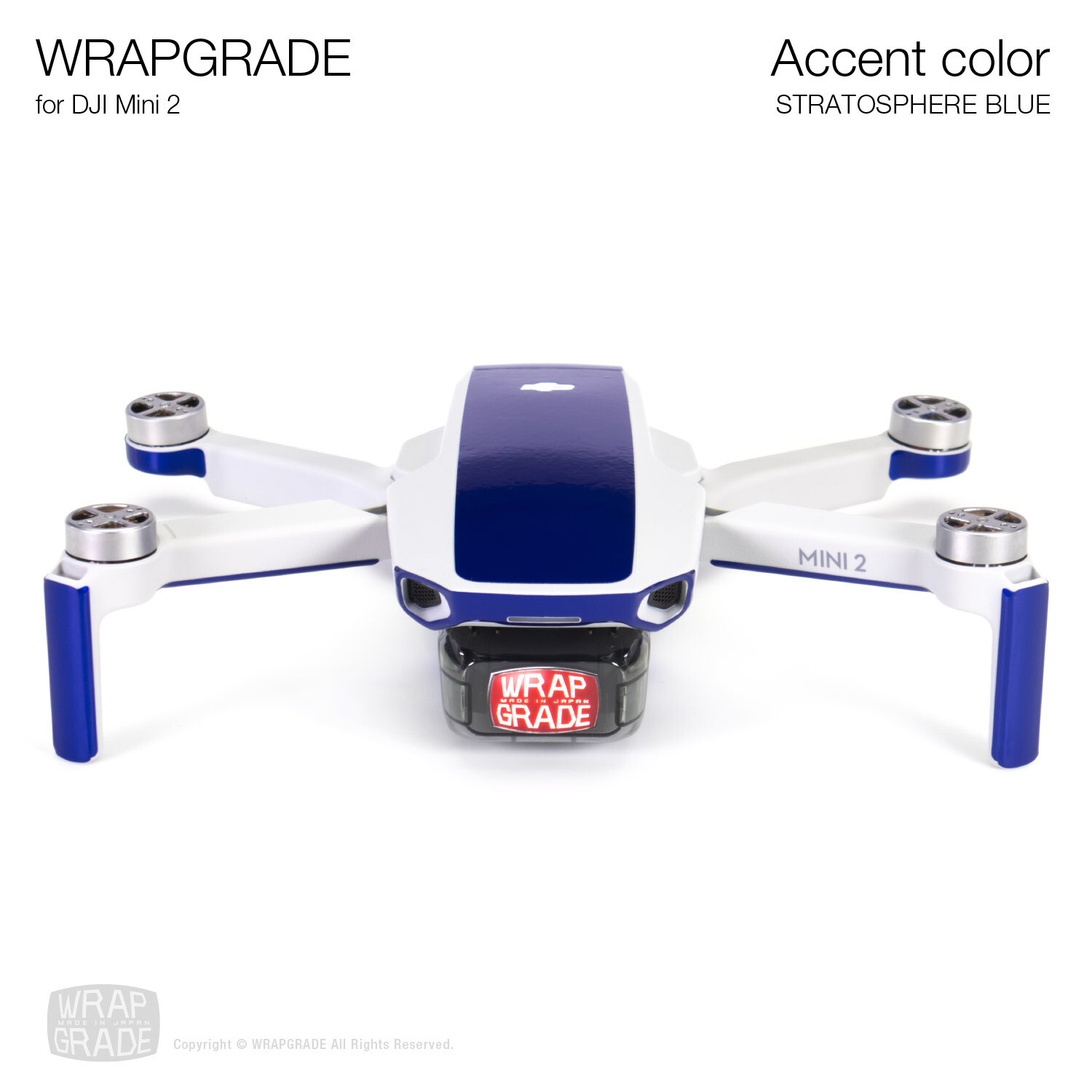 Wrapgrade Poly Skin for DJI Mini 2 | Accent color (STRATOSPHERE BLUE)