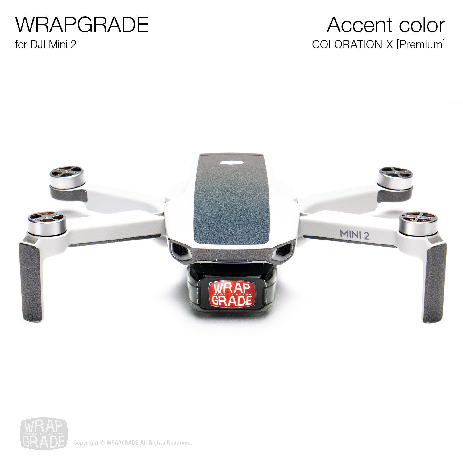 Wrapgrade Poly Skin for DJI Mini 2 | Accent color (COLORATION-X)