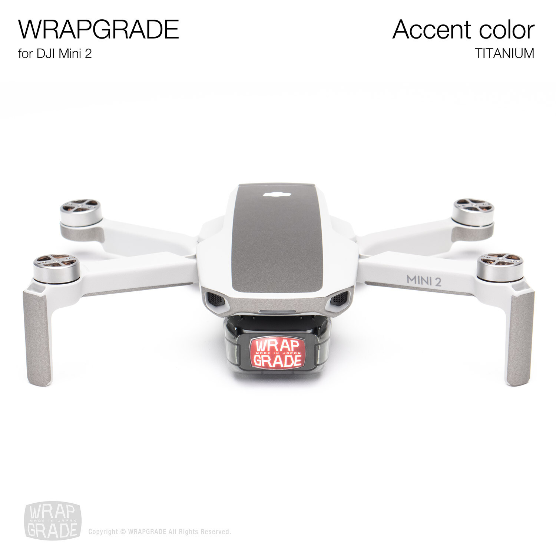 Wrapgrade Poly Skin for DJI Mini 2 | Accent color (TITANIUM)