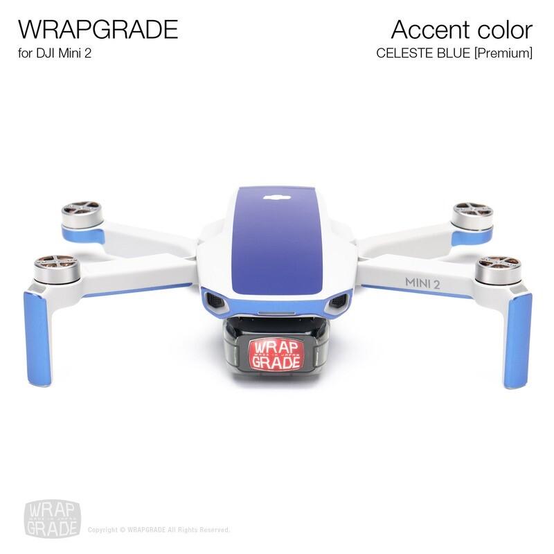 Wrapgrade Poly Skin for DJI Mini 2 | Accent color (CELESTE BLUE)