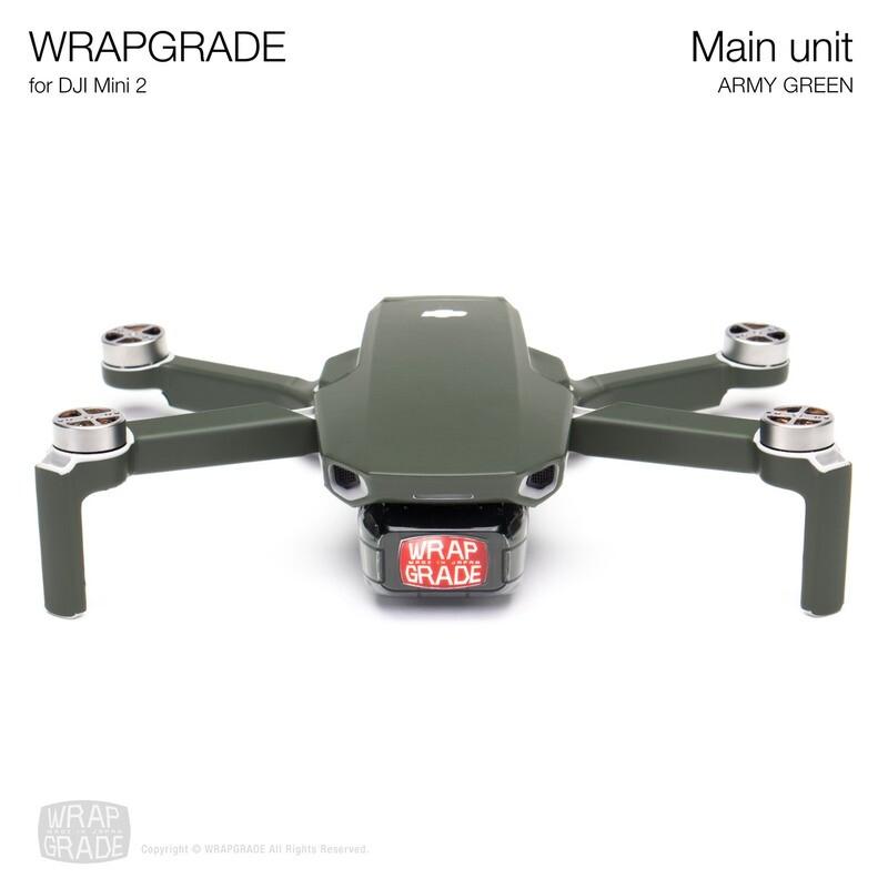 Wrapgrade Poly Skin for DJI Mini 2 | Main Unit (ARMY GREEN)