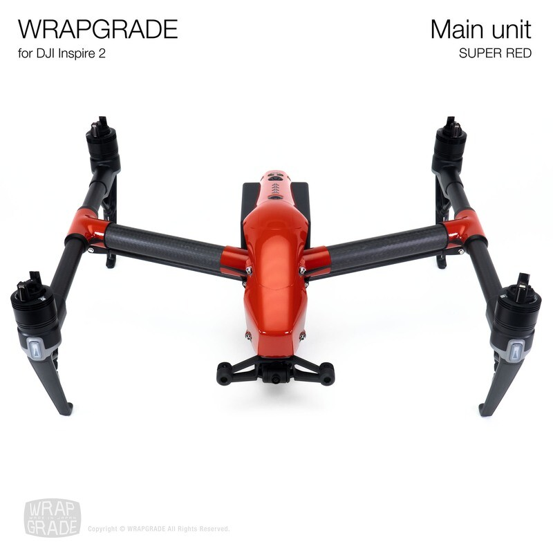 WRAPGRADE for DJI Inspire 2 | Main Unit (SUPER RED)