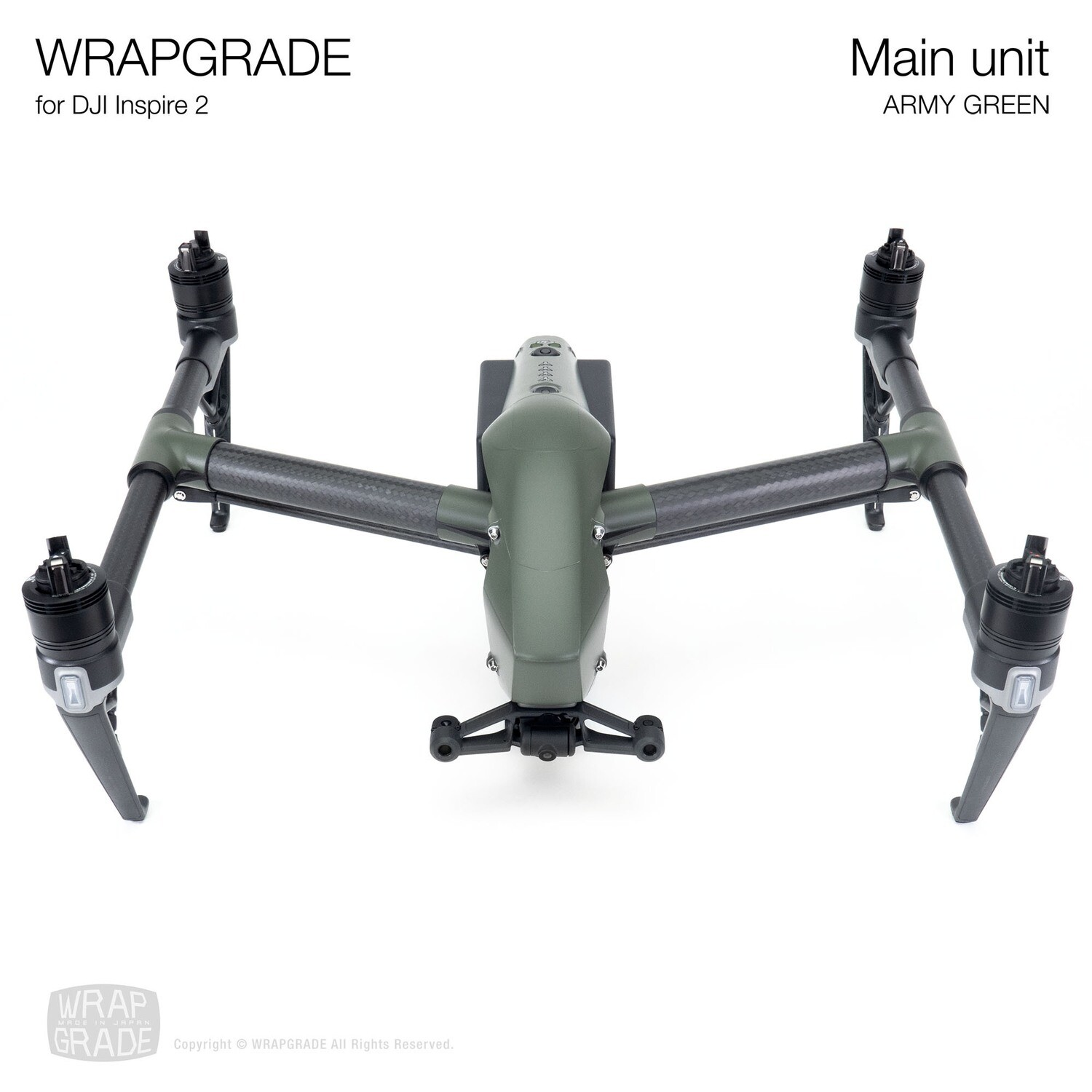 WRAPGRADE for DJI Inspire 2 | Main Unit (ARMY GREEN)