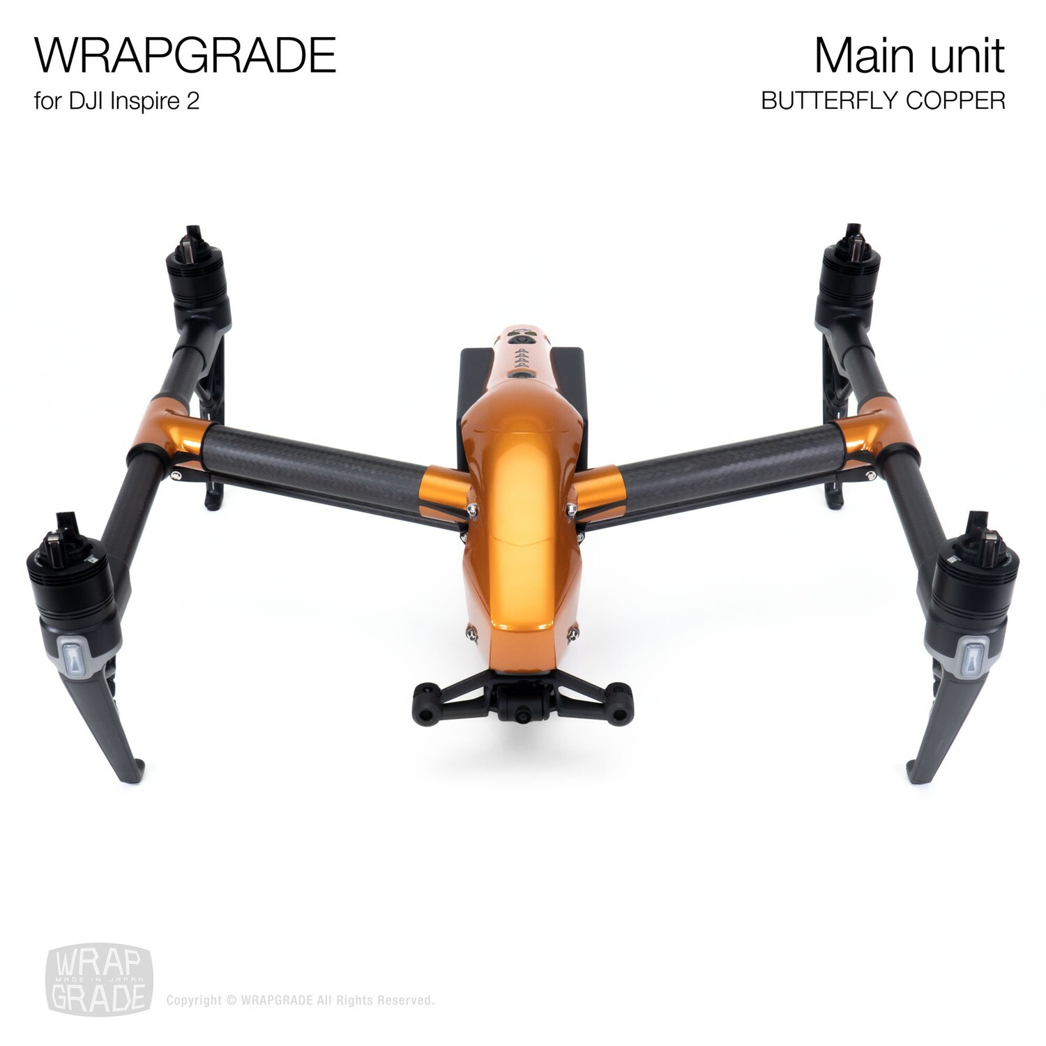 WRAPGRADE for DJI Inspire 2 | Main Unit (BUTTERFLY COPPER)