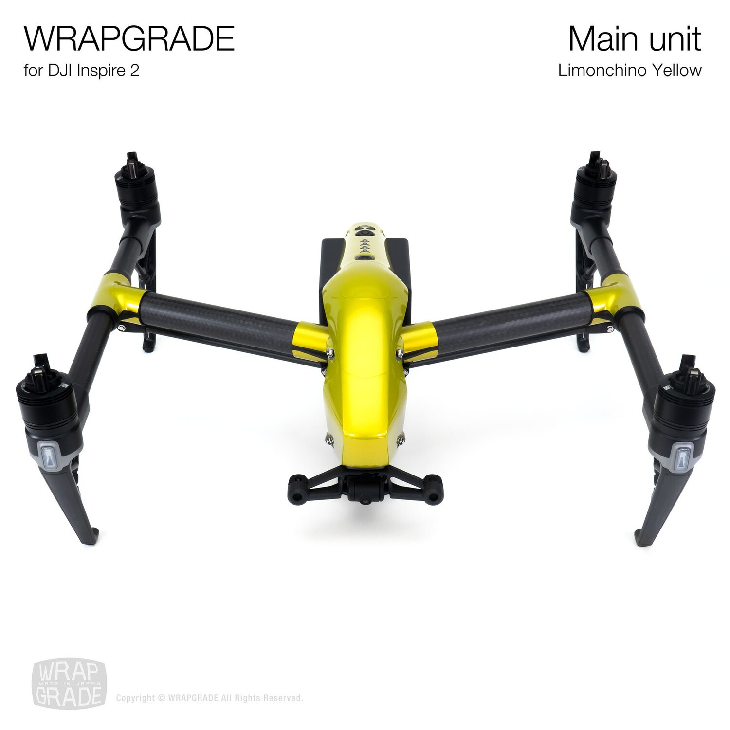 WRAPGRADE for DJI Inspire 2 | Main Unit (LIMIONCINO YELLOW)