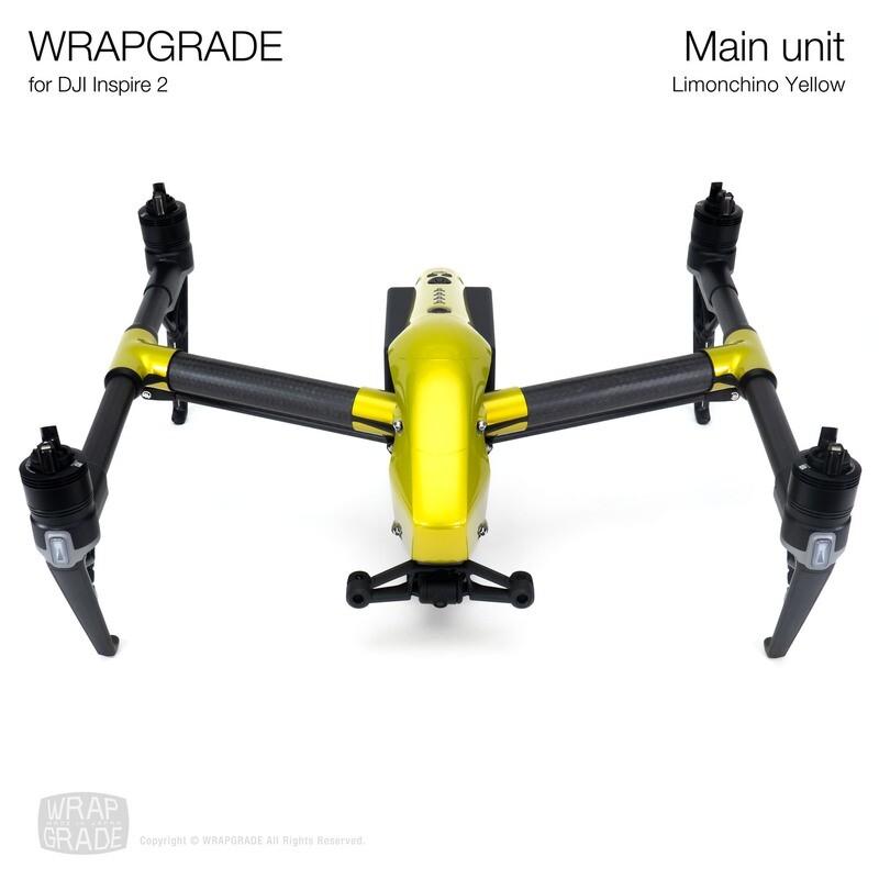 WRAPGRADE for DJI Inspire 2 | Main Unit (LIMIONCINO YELLOW)