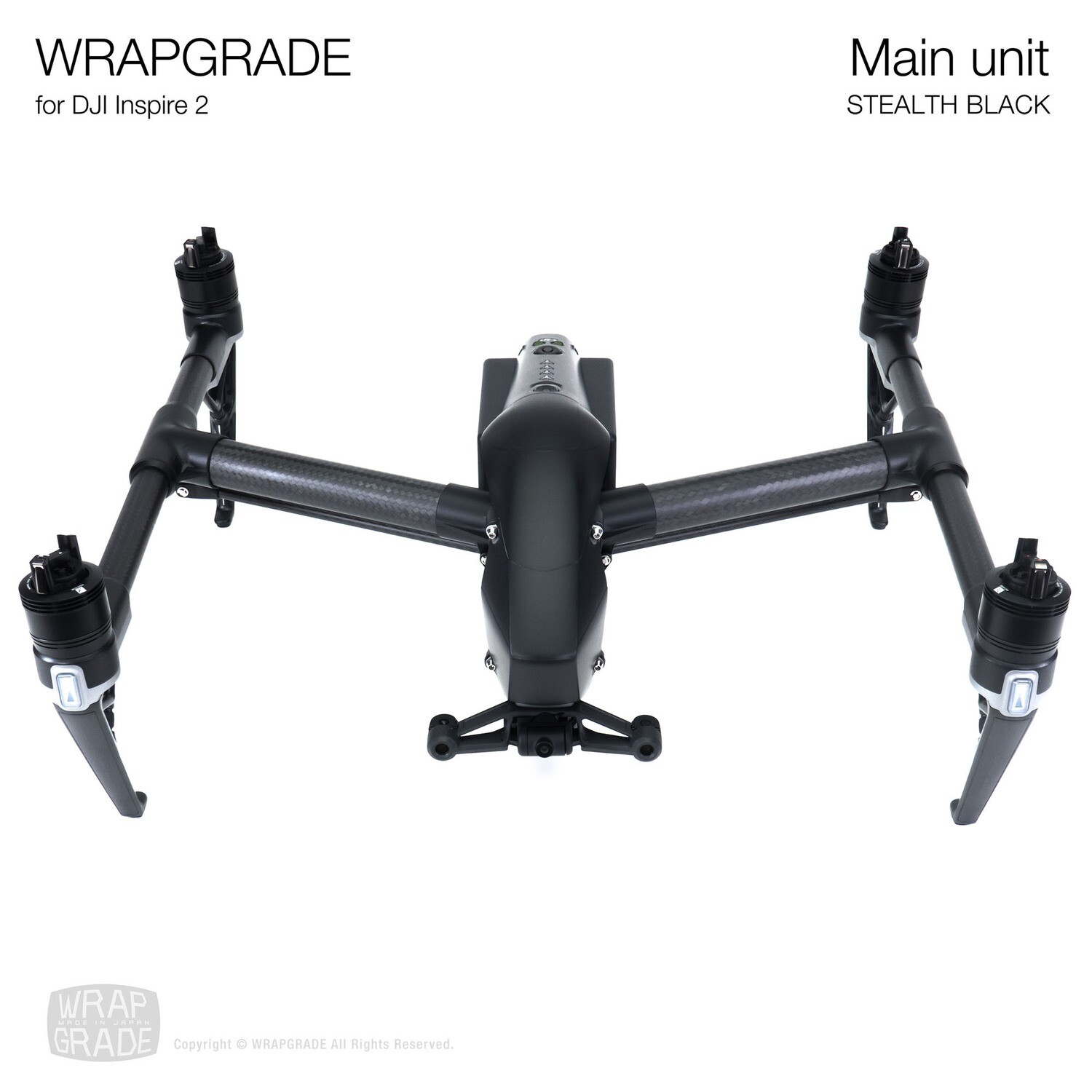 WRAPGRADE for DJI Inspire 2 | Main Unit (STEALTH BLACK)