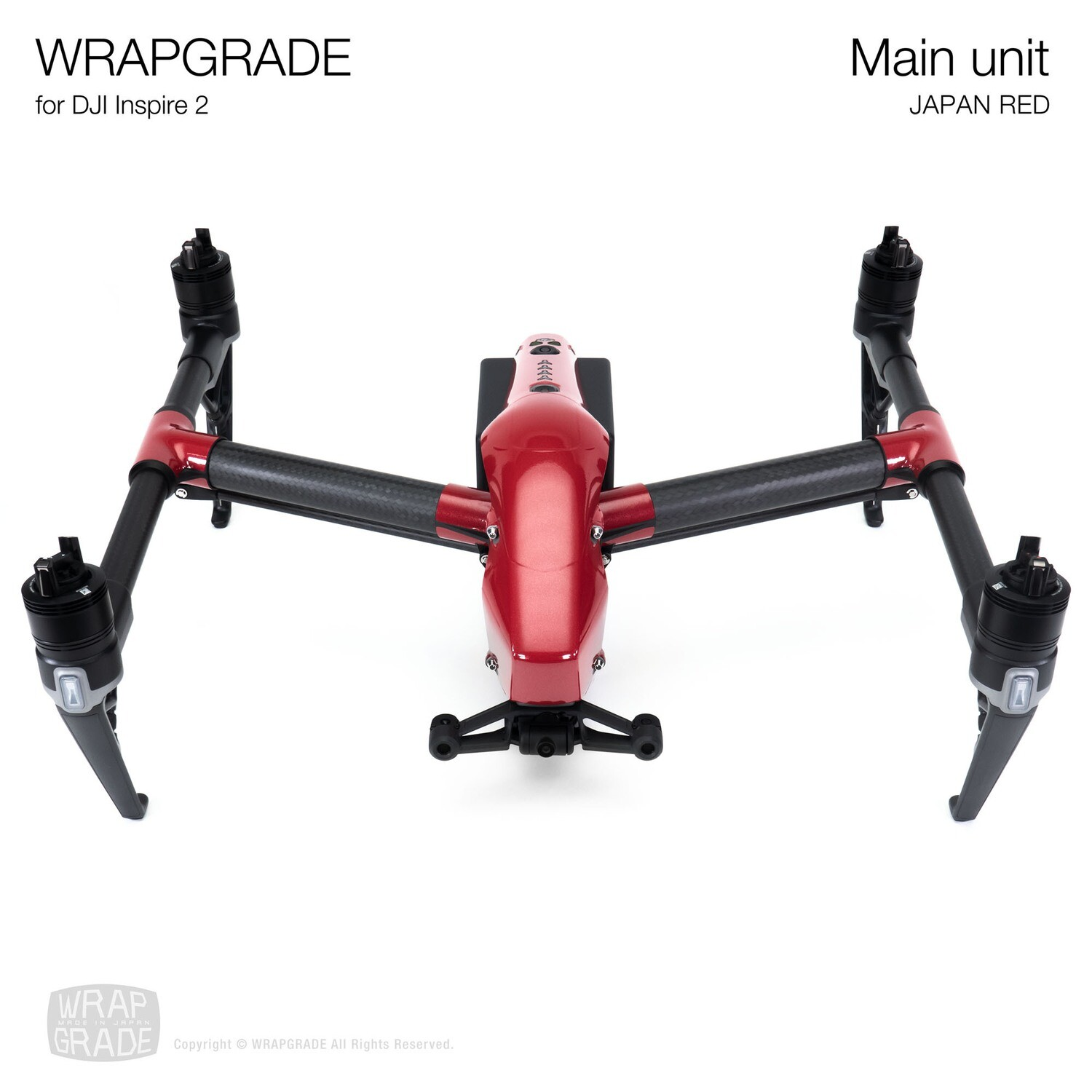 WRAPGRADE for DJI Inspire 2   Main Unit (JAPAN RED)