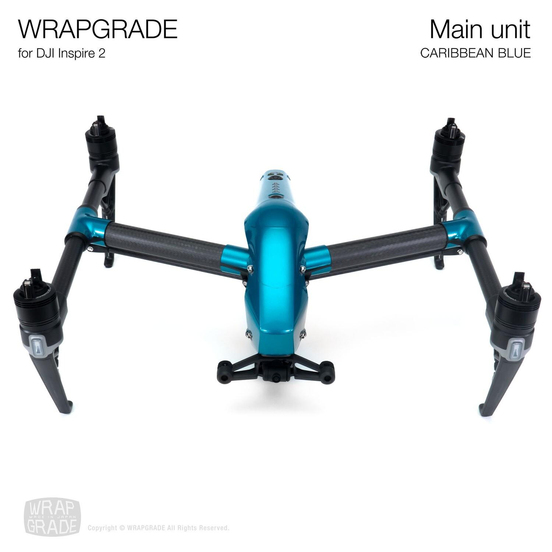 WRAPGRADE for DJI Inspire 2 | Main Unit (CARIBBEAN BLUE)